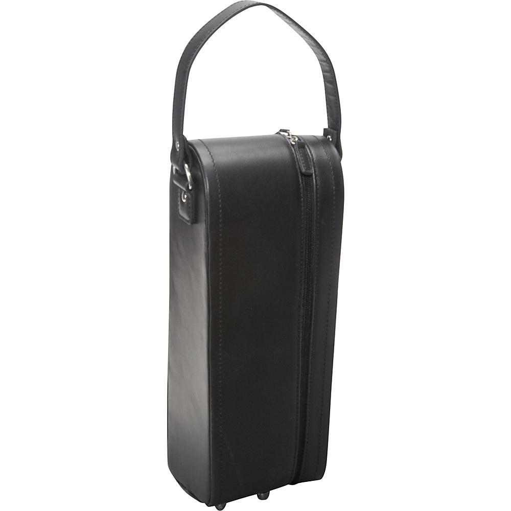 AmeriLeather Leather Single Wine Case Holder Black - AmeriLeather Outdoor Accessories