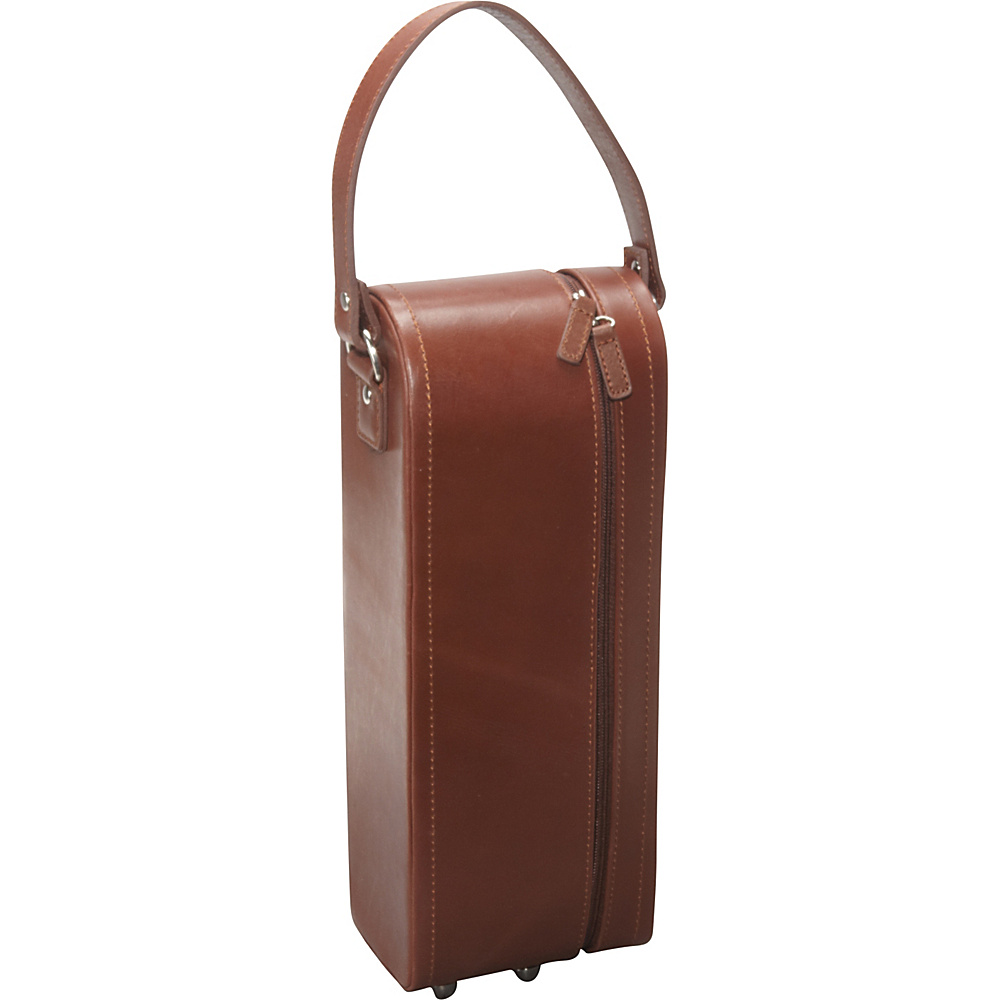 AmeriLeather Leather Single Wine Case Holder Brown - AmeriLeather Outdoor Accessories - Outdoor, Outdoor Accessories