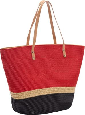 Magid Two Tone Mix Stripe Paper Tote