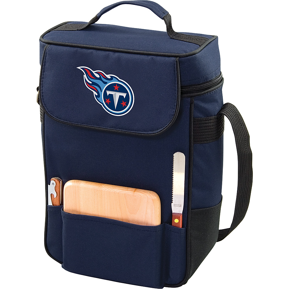 Picnic Time Tennessee Titans Duet Wine & Cheese Tote Tennessee Titans Navy - Picnic Time Outdoor Coolers - Outdoor, Outdoor Coolers