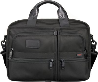 Tumi Alpha Small Screen Expandable Laptop Brief Black - Tumi Non-Wheeled Computer Cases