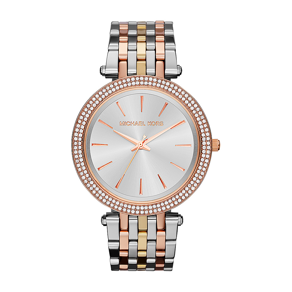 Michael Kors Watches Darci Watch Tri tone Silver Gold Rose Gold Michael Kors Watches Watches