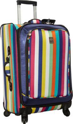 Jenni Chan Multi Stripes 360 Quattro 25 inch Luggage Multi Stripe - Jenni Chan Softside Checked