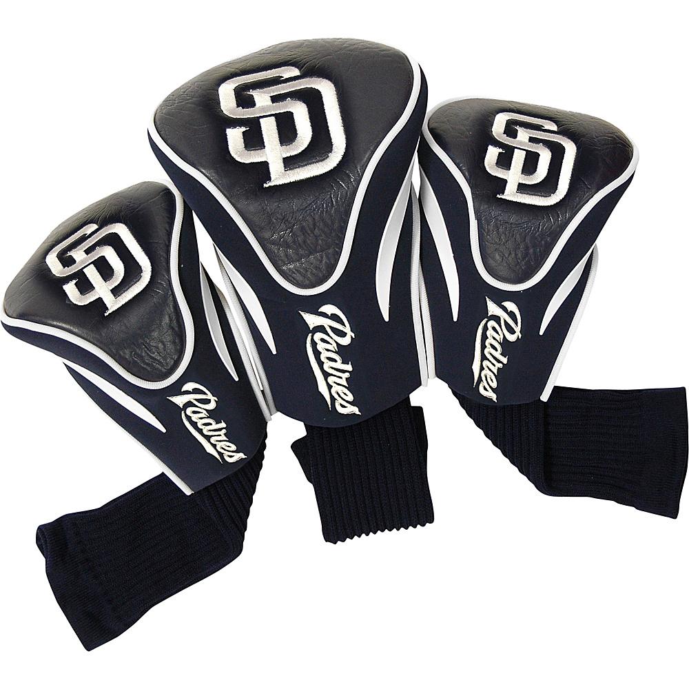 Team Golf USA San Diego Padres 3 Pk Contour Head Cover Team Color - Team Golf USA Golf Bags