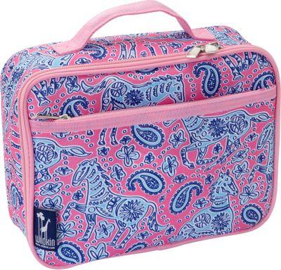 Wildkin Watercolor Ponies Pink Lunch Box Watercolor Ponies Pink - Wildkin Travel Coolers