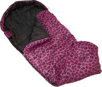Wildkin Pink Leopard Stay Warm Sleeping Bag Pink Giraffe - Wildkin Travel Pillows & Blankets