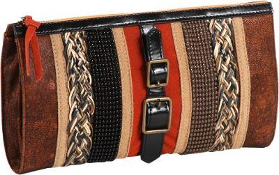 Nicole Lee Taylor Multi-Texture Works Clutch ORANGE - Nicole Lee Manmade Handbags