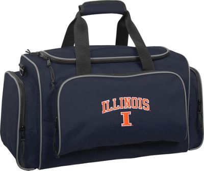 Wally Bags University of Illinois Fighting Illini 21 inch Collegiate Duffel Navy - Wally Bags Rolling Duffels