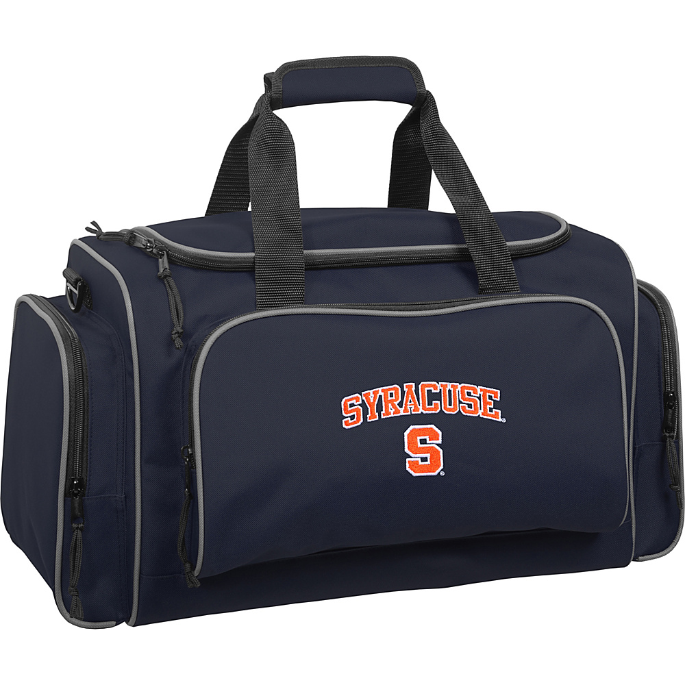 Wally Bags Syracuse University Orange 21 Collegiate Duffel Navy Wally Bags Rolling Duffels