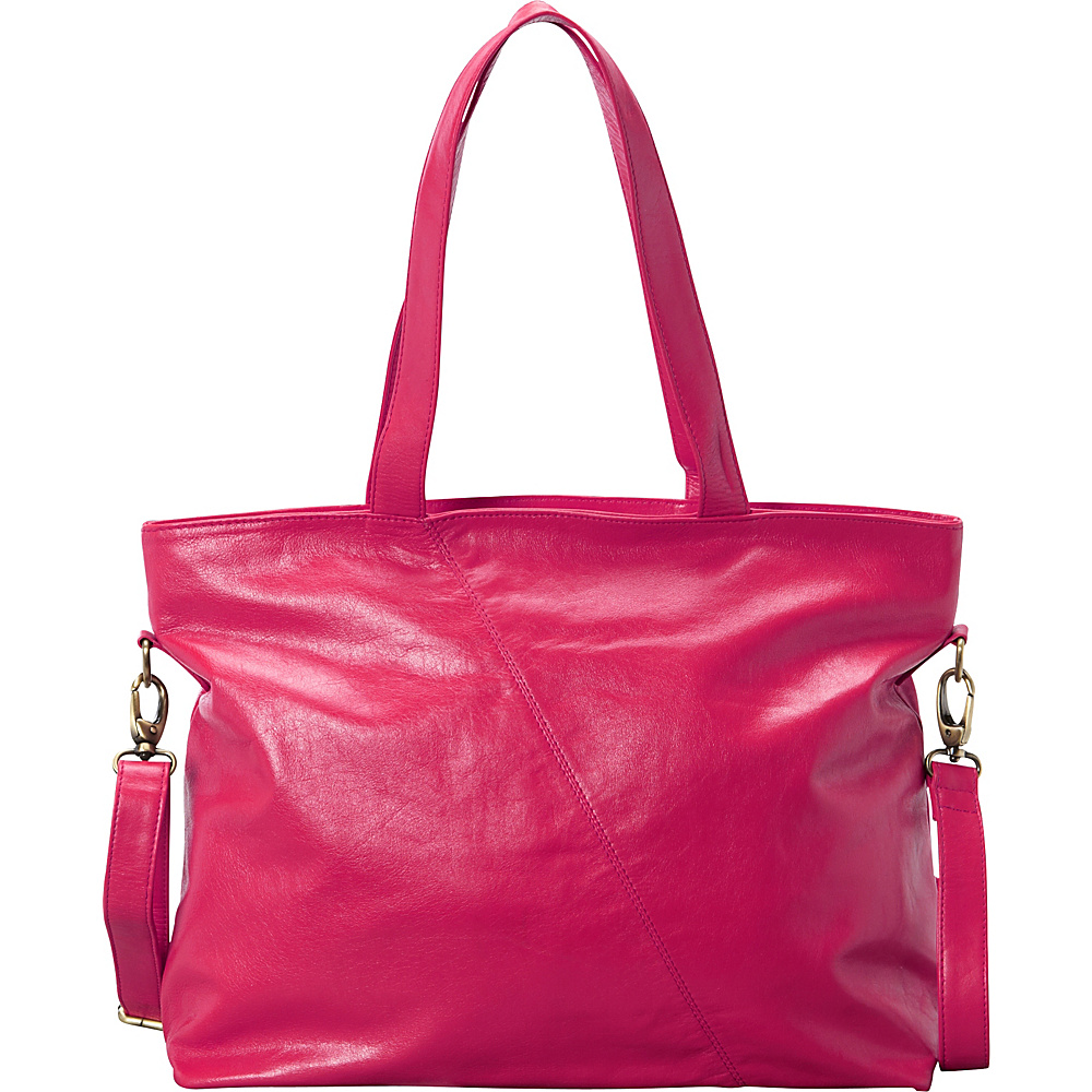 Latico Leathers Flynn Tote Fuchsia - Latico Leathers Leather Handbags - Handbags, Leather Handbags