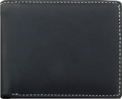 Stewart Stand Leather Exterior Bill Fold Stainless Steel Wallet- RFID Black - Stewart Stand Men's Wallets