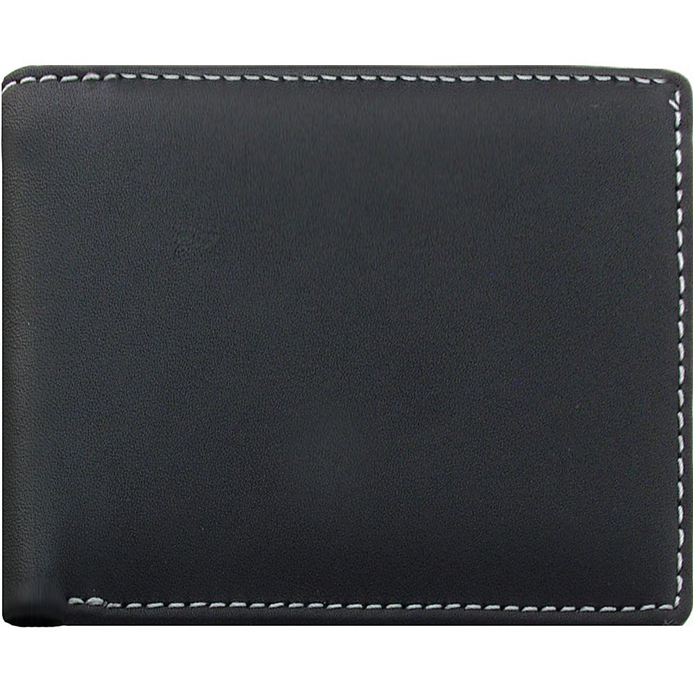 Stewart Stand Leather Exterior Bill Fold Stainless Steel Wallet RFID Black Stewart Stand Men s Wallets