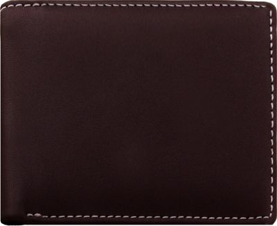 Stewart Stand Leather Exterior Bill Fold Stainless Steel Wallet- RFID Brown - Stewart Stand Men's Wallets