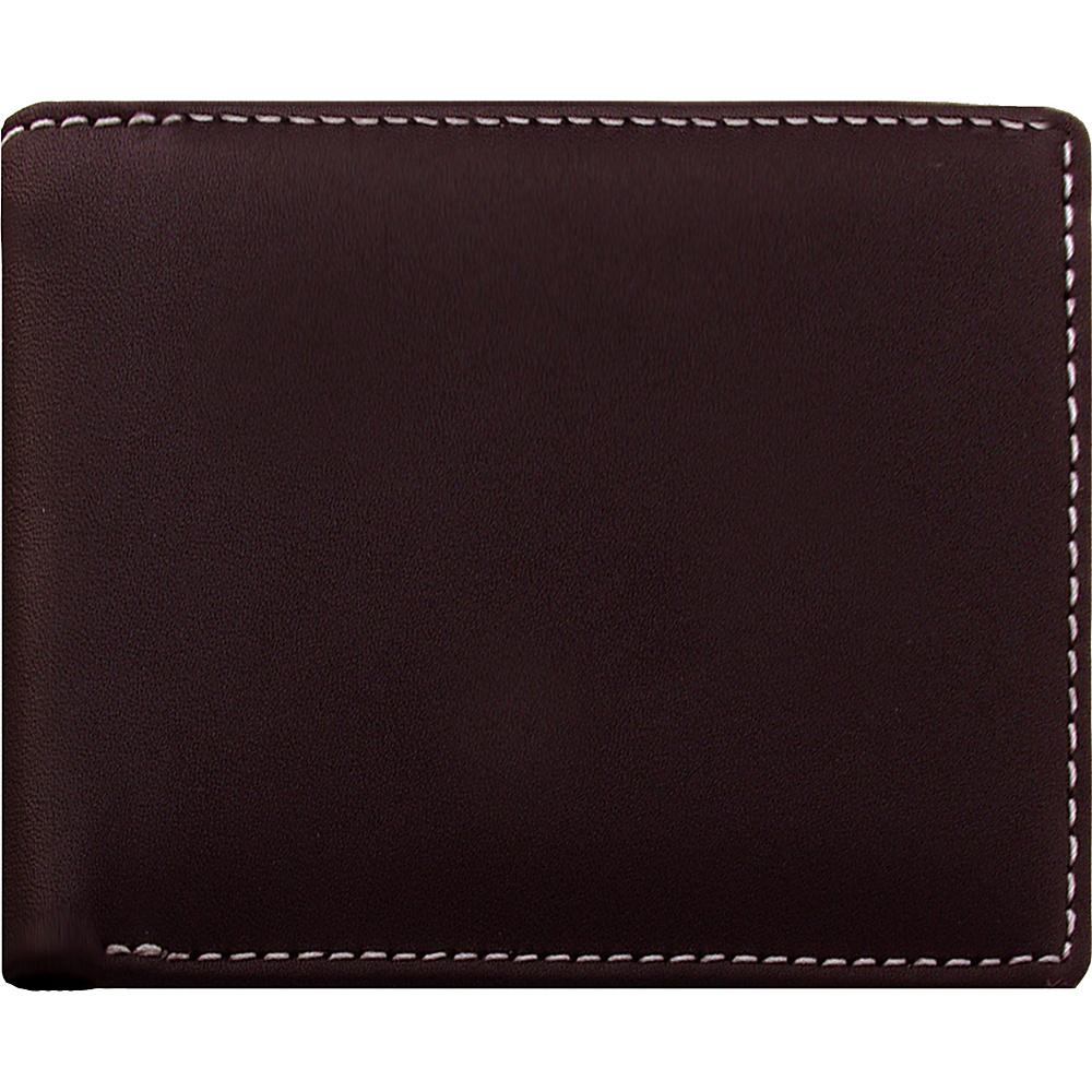 Stewart Stand Leather Exterior Bill Fold Stainless Steel Wallet RFID Brown Stewart Stand Men s Wallets