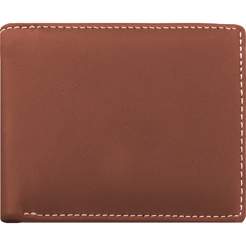 Stewart Stand Leather Exterior Bill Fold Stainless Steel Wallet RFID Tan Stewart Stand Men s Wallets