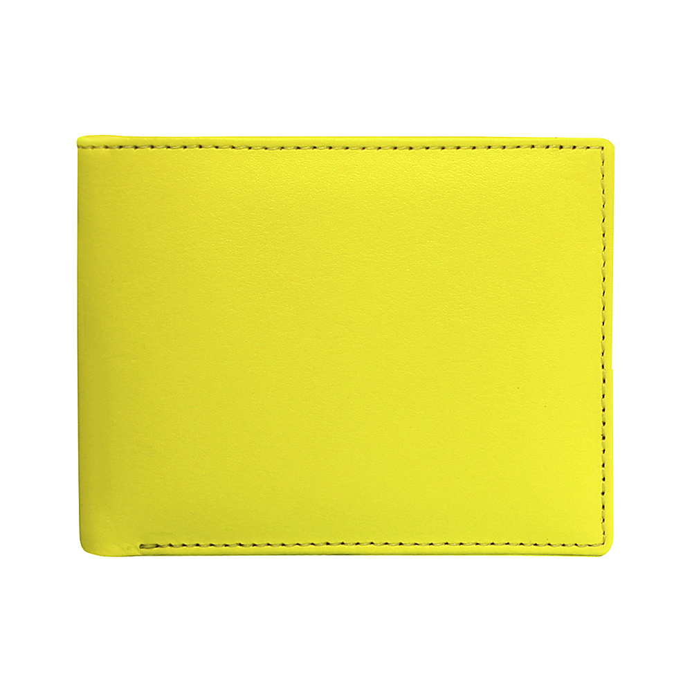 Stewart Stand Leather Exterior Bill Fold Stainless Steel Wallet RFID Yellow Stewart Stand Men s Wallets