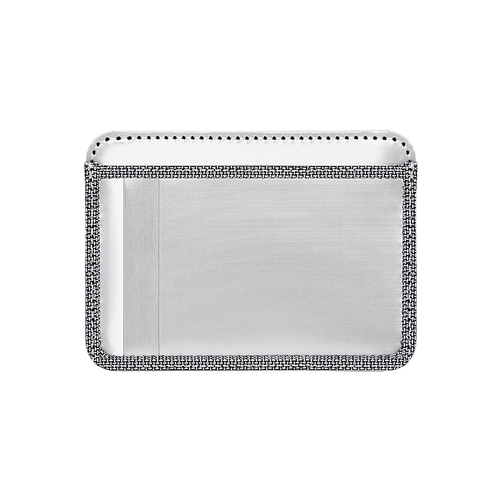 Stewart Stand Credit Card Stainless Steel Wallet RFID Silver Grey Mesh Stewart Stand Men s Wallets