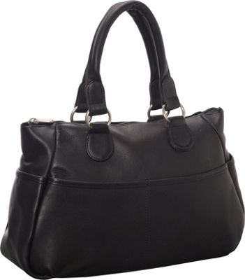 Le Donne Leather Slip Pocket Satchel Black - Le Donne Leather Leather Handbags
