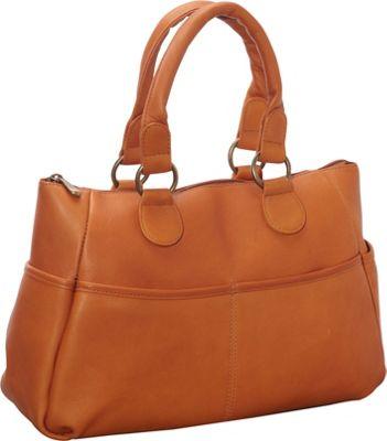 Le Donne Leather Slip Pocket Satchel Tan - Le Donne Leather Leather Handbags