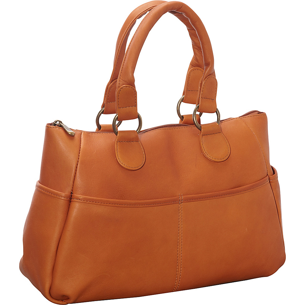 Le Donne Leather Slip Pocket Satchel Tan - Le Donne Leather Leather Handbags - Handbags, Leather Handbags