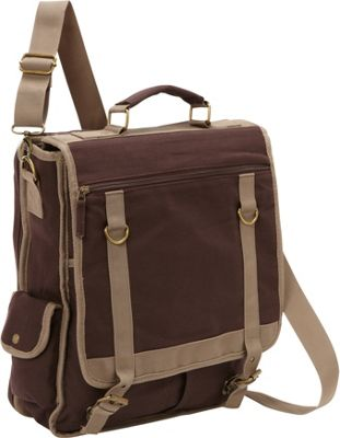 Bellino Expresso Vertical Laptop Canvas Brief - Checkpoint Friendly Brown - Bellino Non-Wheeled Business Cases