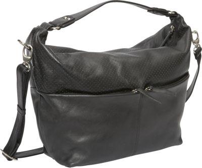 Derek Alexander EW Top Zip Hobo Black - Derek Alexander Leather Handbags
