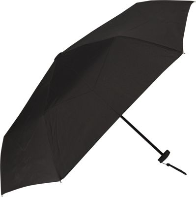 Samsonite Manual Compact Flat Umbrella Black - Samsonite Umbrellas and Rain Gear