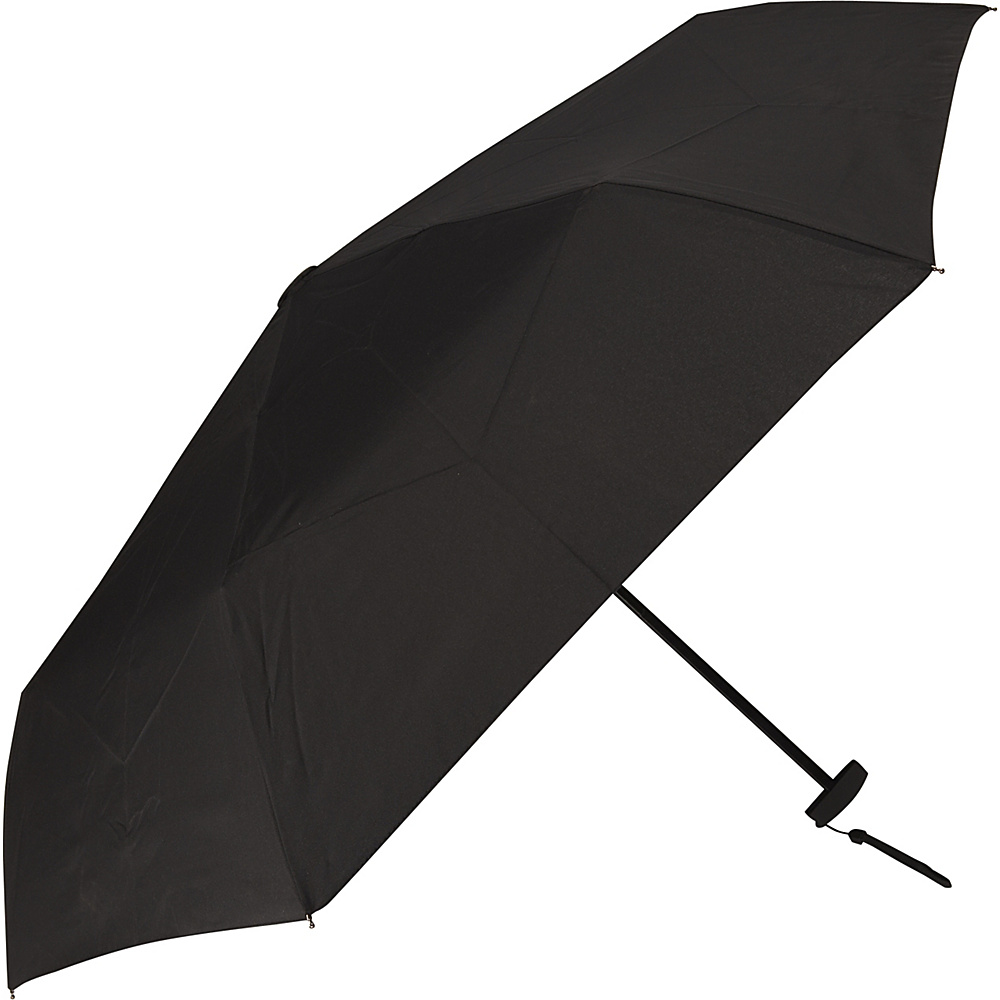 Samsonite Travel Accessories Manual Compact Flat Umbrella Black Samsonite Travel Accessories Umbrellas and Rain Gear