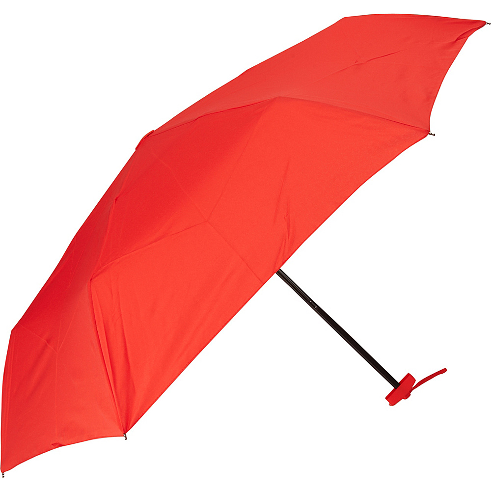 Samsonite Travel Accessories Manual Compact Flat Umbrella Red Samsonite Travel Accessories Umbrellas and Rain Gear
