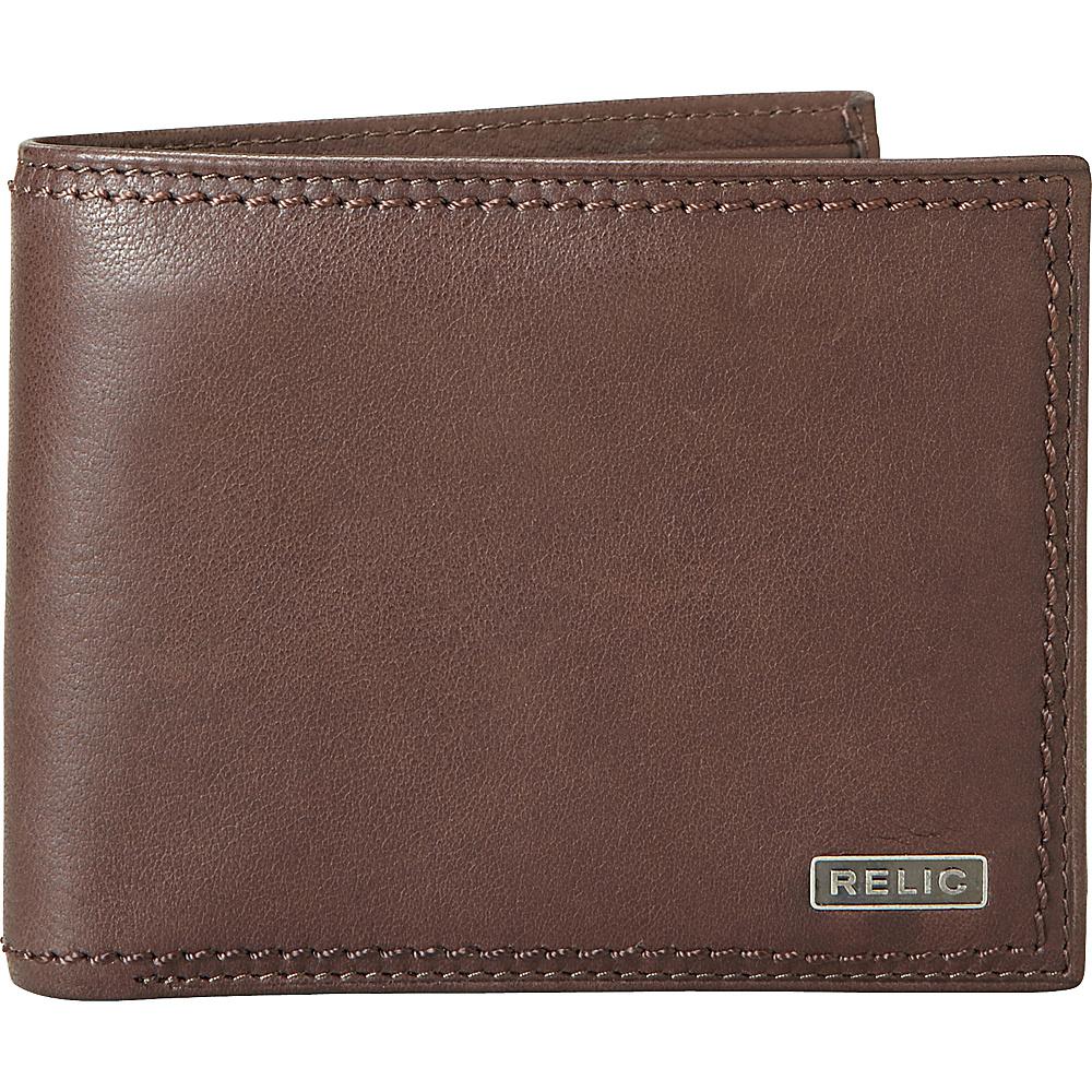 Relic Mark Traveler Wallet Brown Relic Men s Wallets