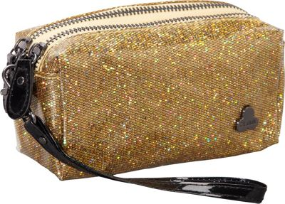 Clava Jazz Glitter Cosmetic Pouch Gold - Clava Women's SLG Other