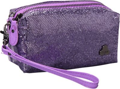 Clava Jazz Glitter Cosmetic Pouch Purple - Clava Women's SLG Other