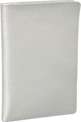 Clava Leather Passport Organizer Wallet Silver - Clava Travel Wallets