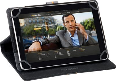 SOLO Metro Universal Tablet Case, fits tablets 5.5 inch up to 8.5 inch Black - SOLO Electronic Cases