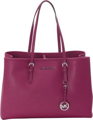 MICHAEL Michael Kors Jet Set Travel Large E/W Tote Deep Pink - MICHAEL Michael Kors Designer Handbags