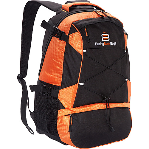 Buddy Book Bags Laptop Backpack Orange and Black - Buddy Book Bags Laptop Backpacks