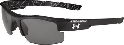 Under Armour Eyewear Youth Nitro L Sunglasses Satin Black-Battle Print Interior/Gray Multiflecti - Under Armour Eyewear Sunglasses