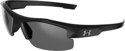 Under Armour Eyewear Youth Nitro L Sunglasses Au Nitro L Storm Shiny Black / Gray Polarized Lens - Under Armour Eyewear Sunglasses