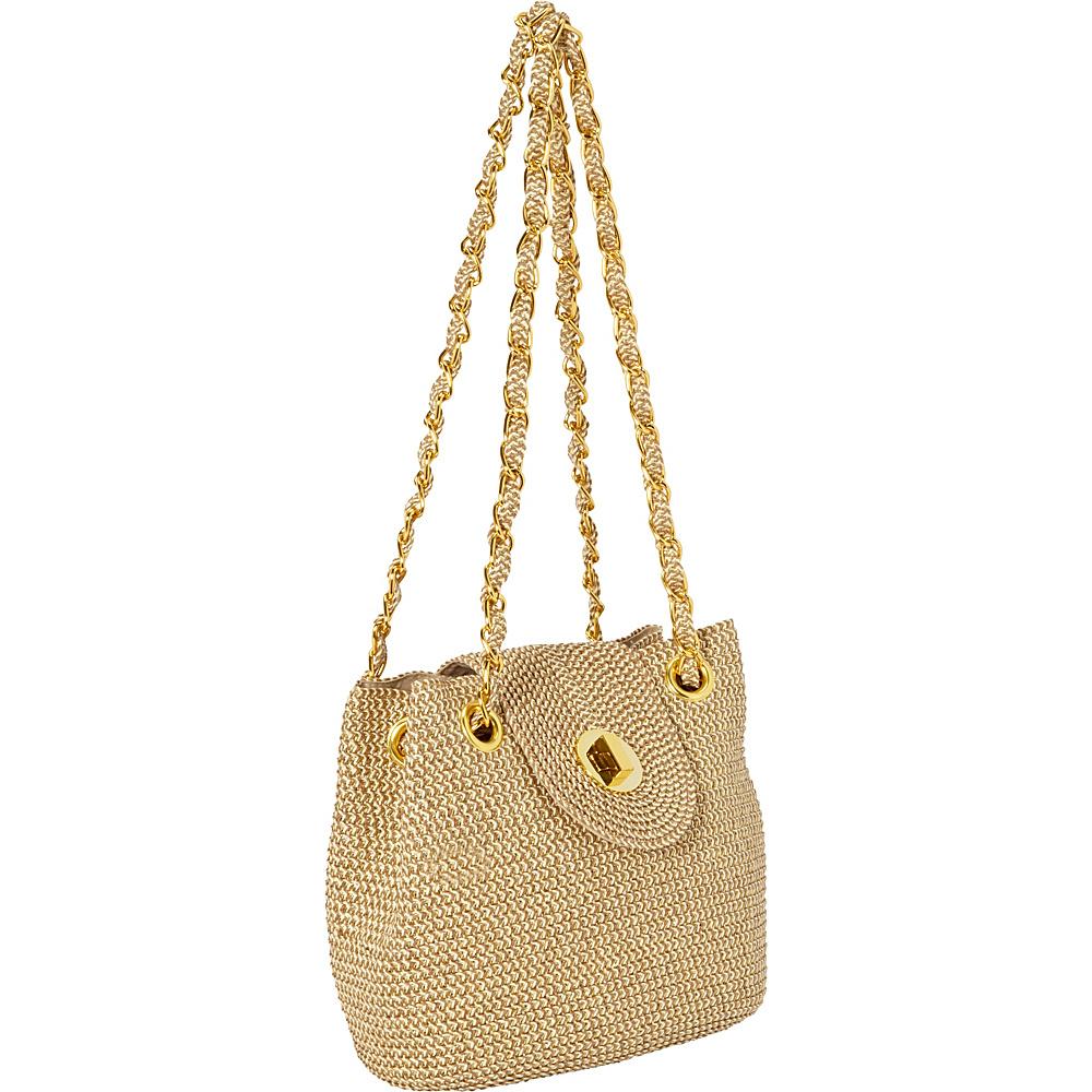 25.49 More Details · Magid Two-Tone Paper Straw Lurex Bag Gold - Magid  Straw Handbags f1a005893f
