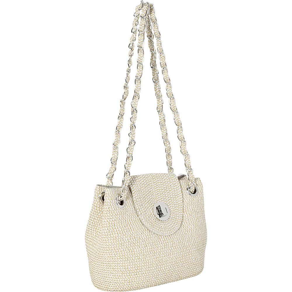 29.74 More Details · Magid Two-Tone Paper Straw Lurex Bag Silver - Magid  Straw Handbags b7db3117e3