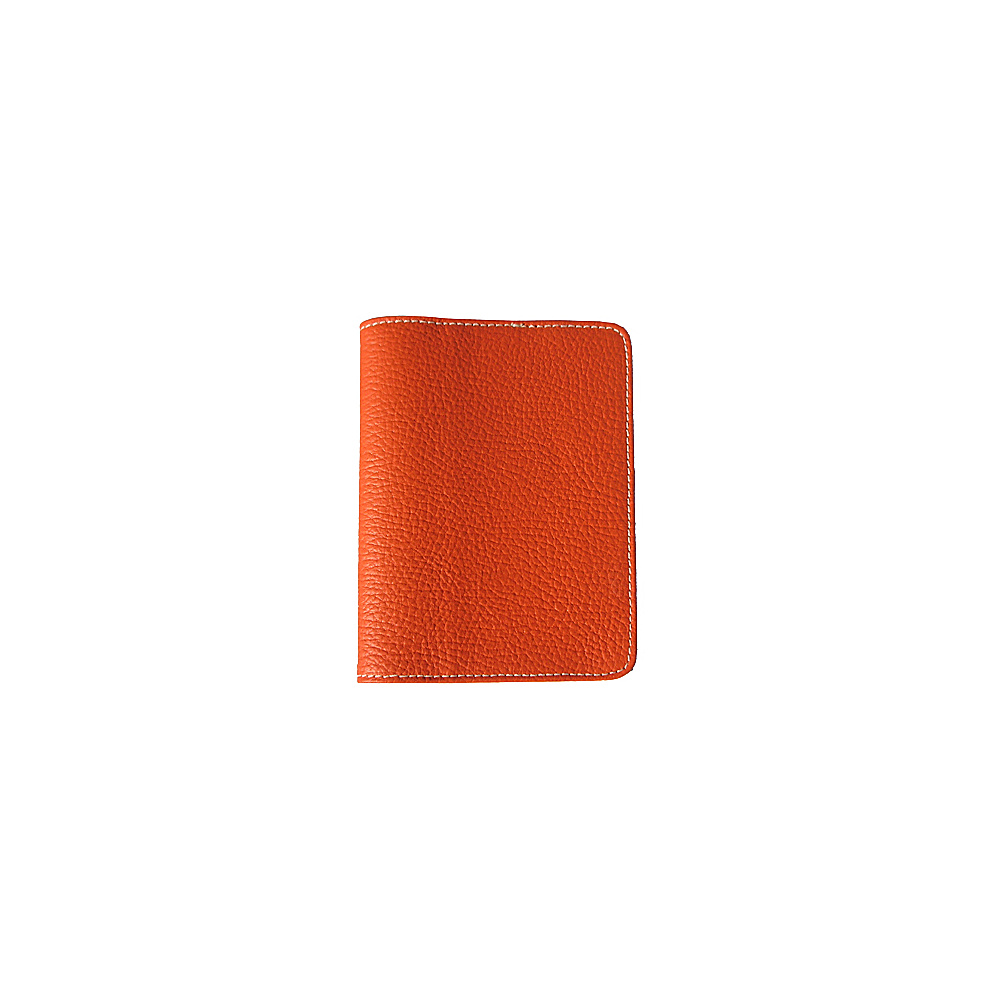 pb travel Leather Passport Cover Orange pb travel Travel Wallets