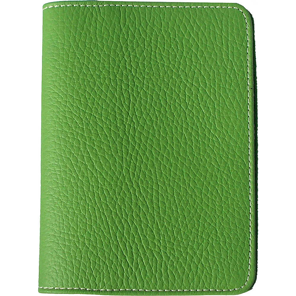 pb travel Leather Passport Cover Lime pb travel Travel Wallets