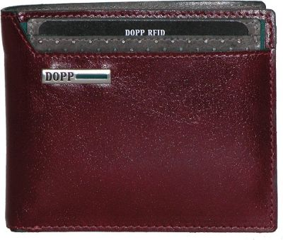 Dopp Beta RFID Convertible Credit Card Billfold Burgundy - Dopp Men's Wallets