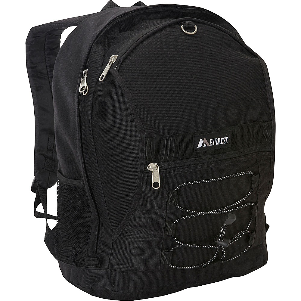 Everest Two Tone Backpack with Mesh Pockets Black - Everest Everyday Backpacks - Backpacks, Everyday Backpacks