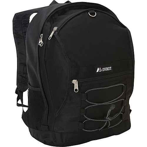 Everest Two Tone Backpack with Mesh Pockets Black - Everest School & Day Hiking Backpacks