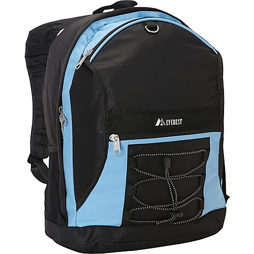 Everest Two Tone Backpack with Mesh Pockets Blue/Black - Everest School & Day Hiking Backpacks
