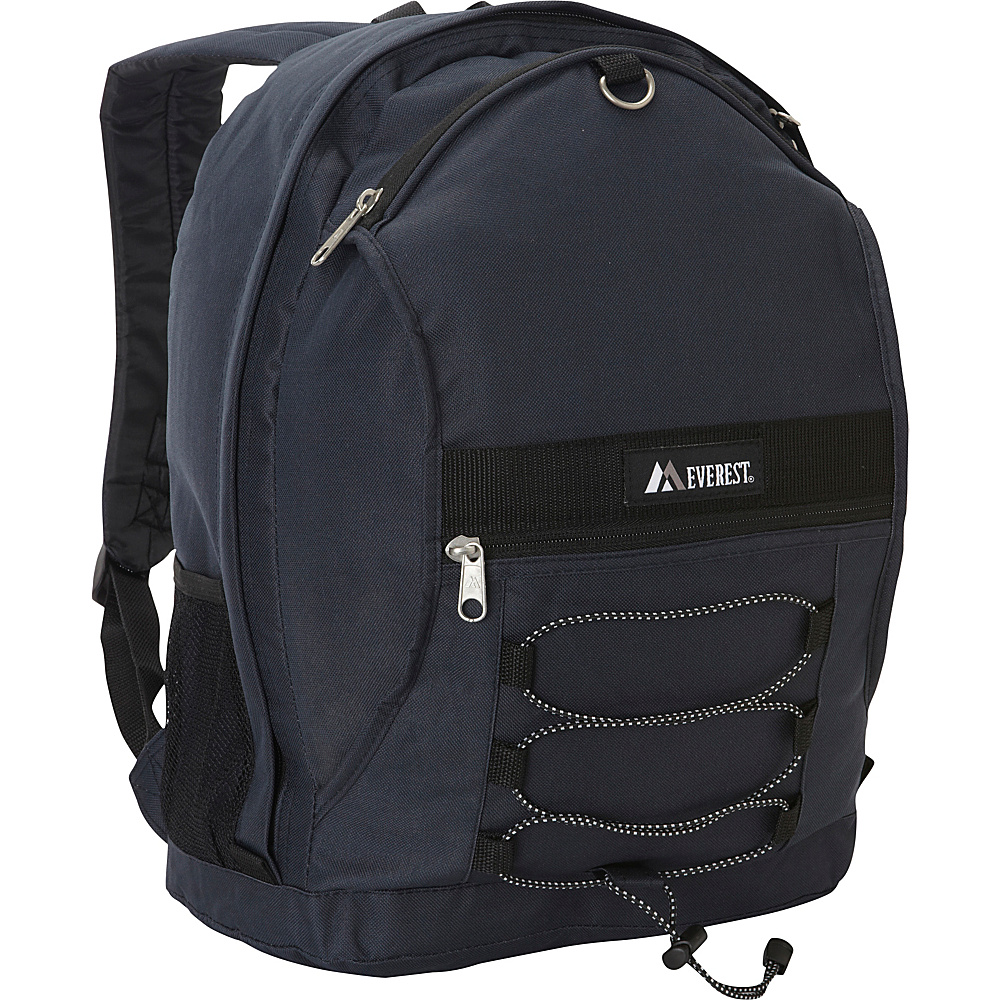 Everest Two Tone Backpack with Mesh Pockets Navy - Everest Everyday Backpacks - Backpacks, Everyday Backpacks