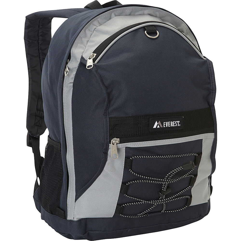 Everest Two Tone Backpack with Mesh Pockets Navy/Gray - Everest Everyday Backpacks - Backpacks, Everyday Backpacks