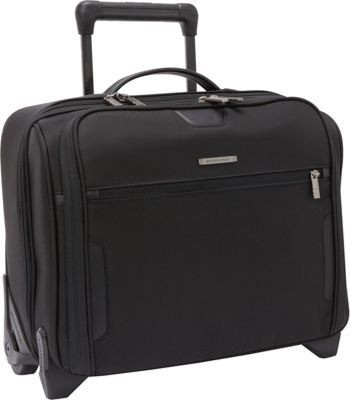 Briggs & Riley Medium Slim Rolling Laptop Brief Black - Briggs & Riley Wheeled Business Cases