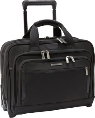 Briggs & Riley Medium Expandable Rolling Laptop Brief Black - Briggs & Riley Wheeled Business Cases